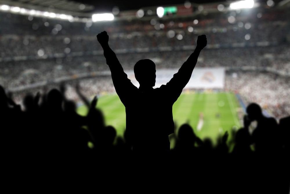 Fans på fodboldstadion